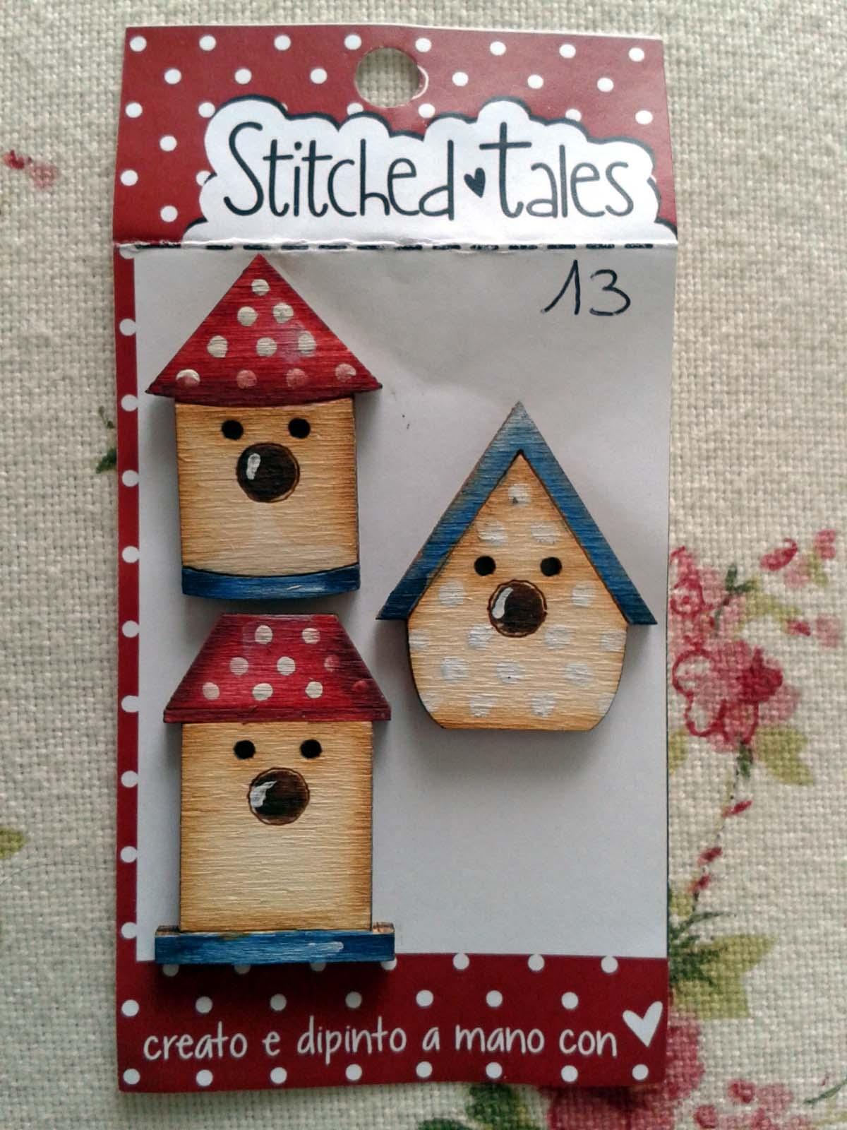 Lot de 3 boutons bois nichoir b331 13