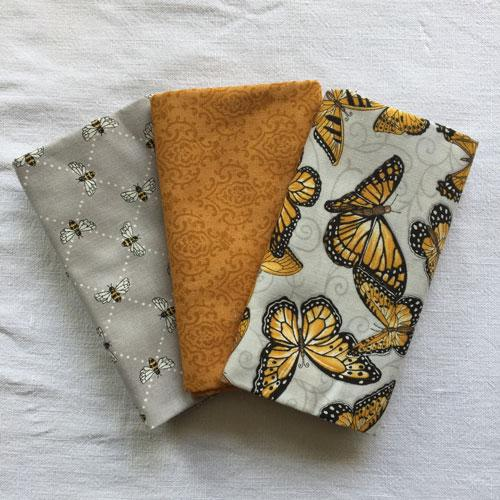 Lot de 3 Tissus Patchwork Moda 'Bee Inspired' 45x55cm
