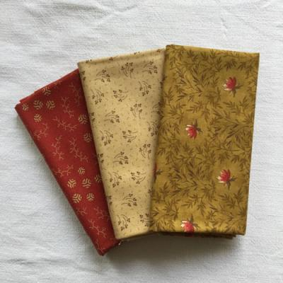 Lot de 3 Tissus Patchwork Moda 'Sweet Cherry Wine' 45x55cm