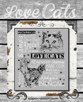"""""""Love Cats 2"""" BDN22 Isabelle Haccourt Vautier"""