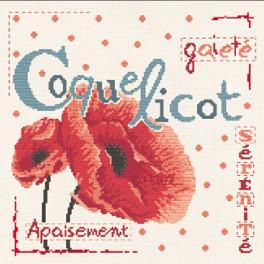 Le coquelicot J001 Lilipoints
