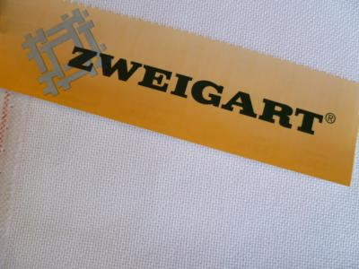 Lugana 3835 10 Fils Zweigart 100 Blanc