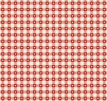 Tissus Patchwork Makower Coeur Red 1614