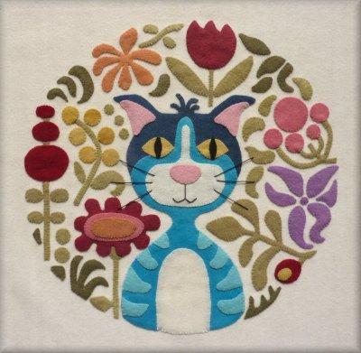 Meow le Chat bleu Le Jardin de Woolens