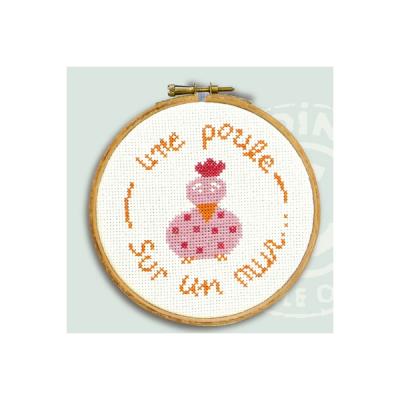 """Mini kit """"Une poule sur ..."""" KE021 Lilipoints"""