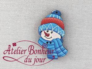 Tête de bonhomme de neige  NE-17-BL - Atelier Bonheur du jour