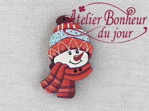 Tête de bonhomme de neige  NE-17-RG - Atelier Bonheur du jour