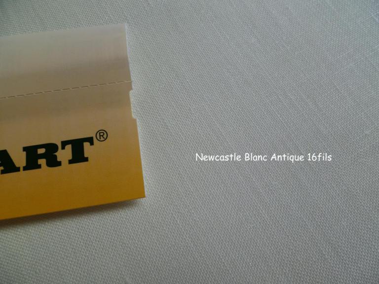 Toile de Lin Newcastle 3348 16 Fils Blanc Antique 101