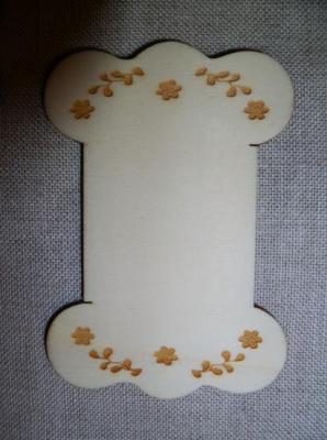 Cartonnette Gravée Guirlandes de Fleurs CL104  Au P'tit Bonheur