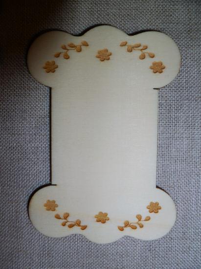 Cartonnette Gravée Guirlandes de Fleurs CL104