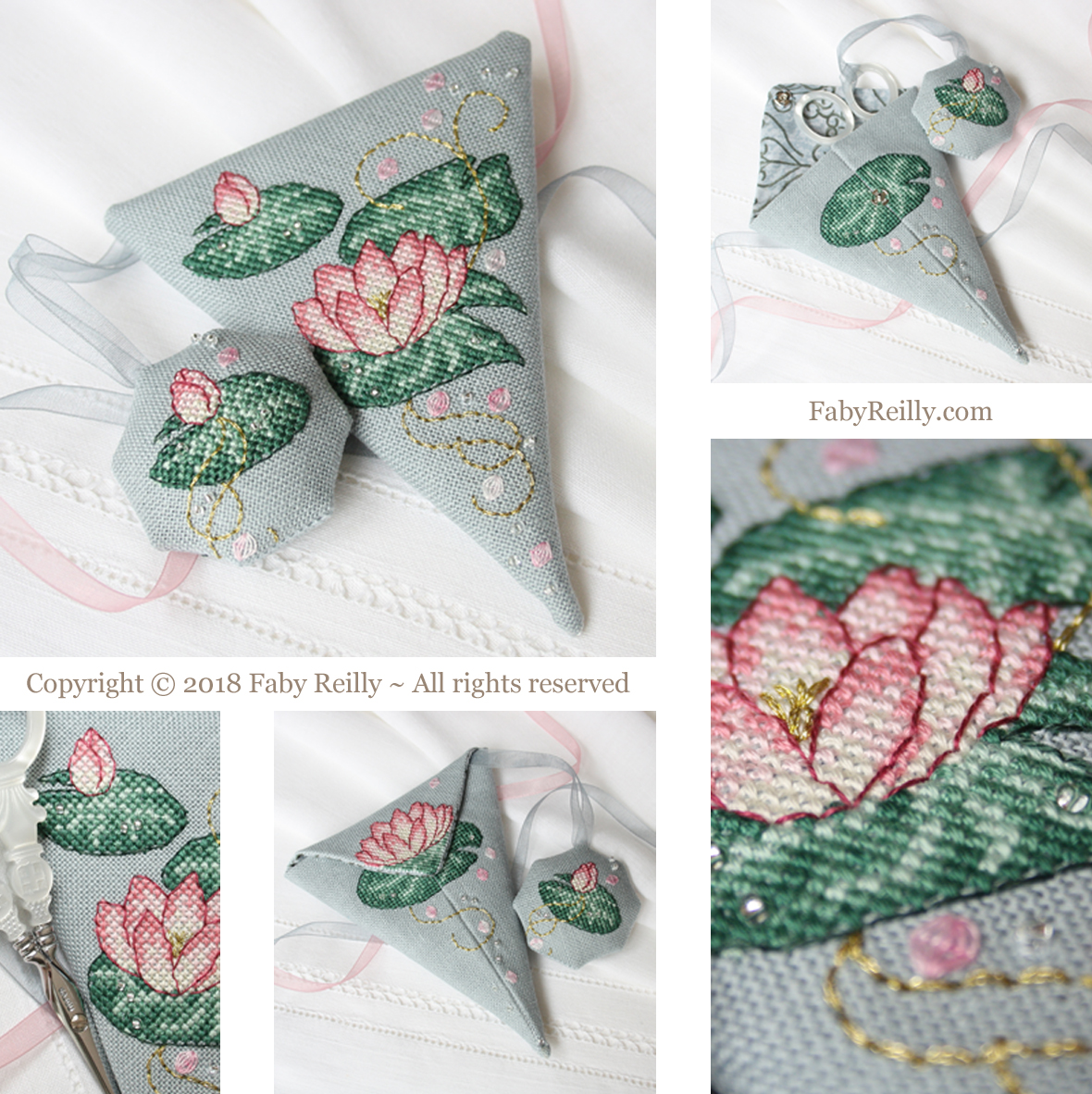 Pink lotus scissor case faby reilly designs