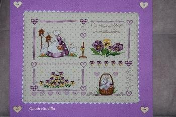 Quadretto lilla cv82
