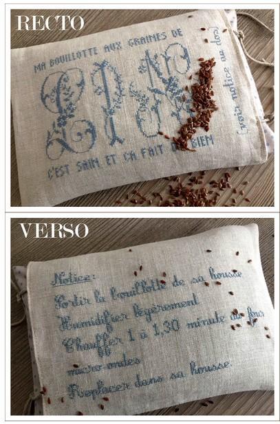 Ma bouillotte aux graines de lin : 4010