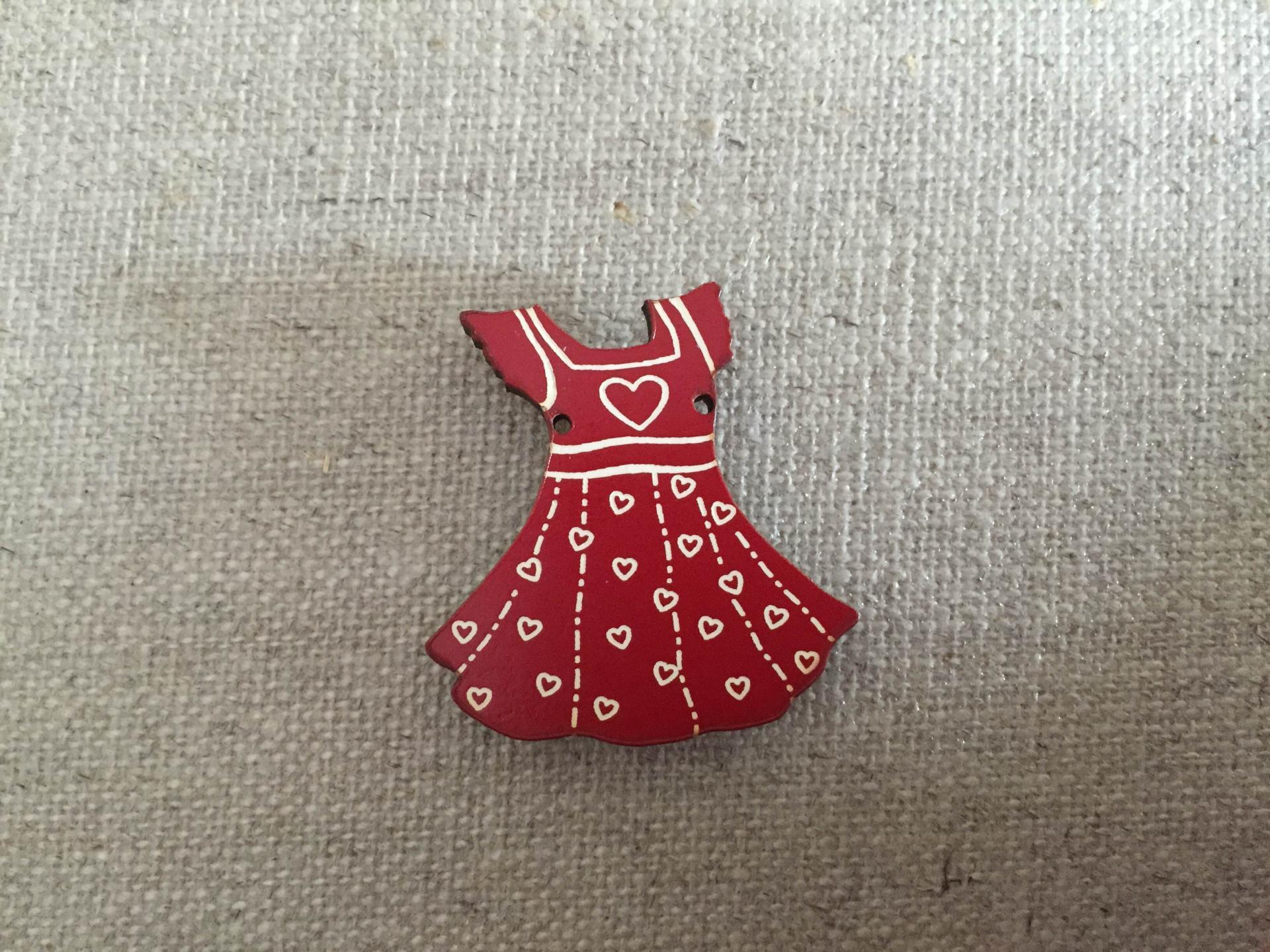 Robe fillette rouge