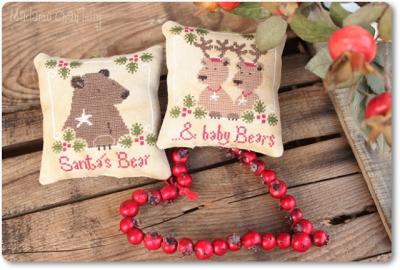 Santa's Bear & Baby Bears Madame Chantilly