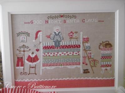"""Santa claus on the pea """"Bonne Nuit le Père Noël"""" Cuore e Batticuore"""