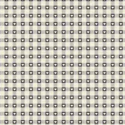 Tissus Patchwork Makower Coeur Grey 1614