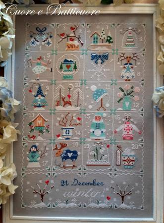 Shabby winter calendar 3