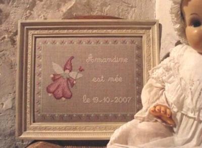 Tableau de naissance 'Petite Fée' Le Lin d'Isabelle