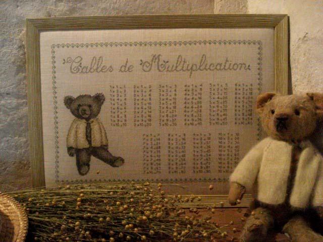 Tables de multiplication nounours