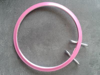 Tambour métal à Broder rose 13cm