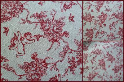 Tissu Lin Ange Rouge 50x72,50 cm