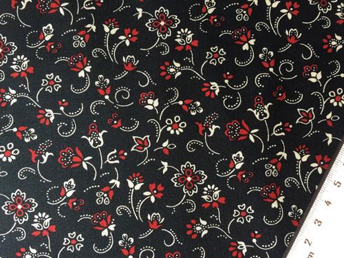 Tissu fond noir