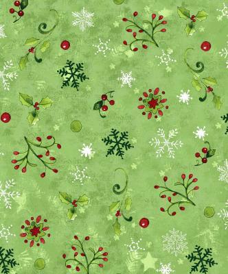 Tissu Patchwork Moda Noël Vert Pomme