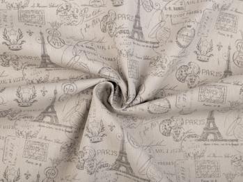 Tissu paris vintage gris 1