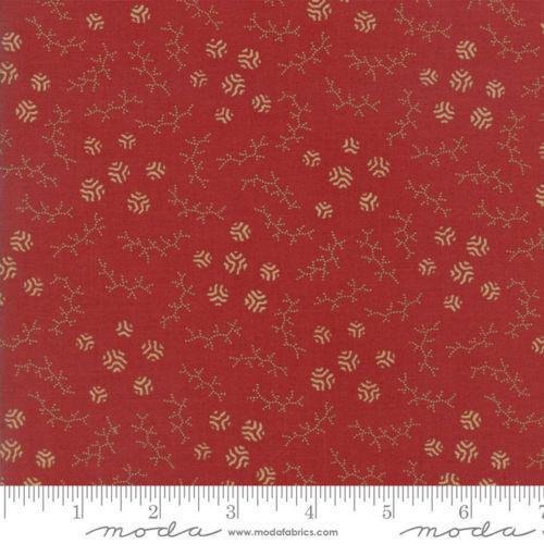 Tissu Patchwork Moda 'Sweet Cherry Wine' Boules Rouges