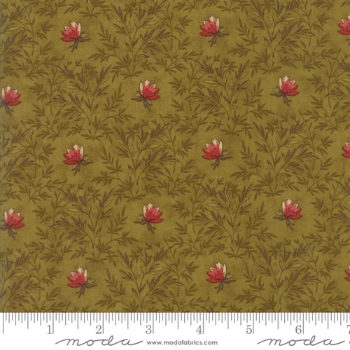 Tissu patch leaves green 2783 15
