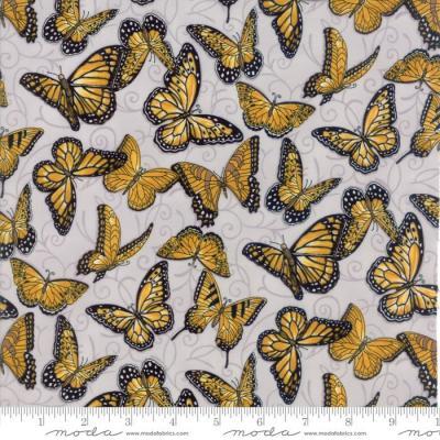 Tissu Patchwork Moda 'Bee Inspired' Papillons sur fond Gris