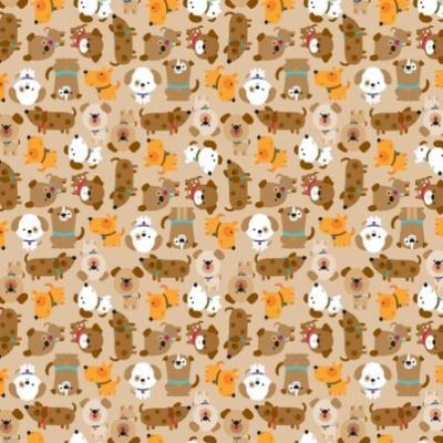 Tissu Patchwork Puppy Love Chiens
