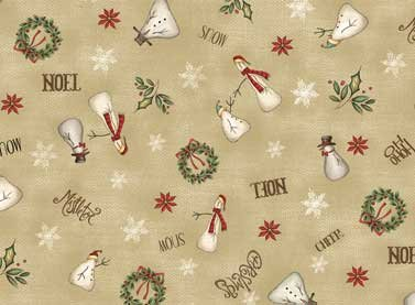 Tissu red rooster christmas whimsy 25208 bei