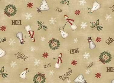 Coupon de Noël 'christmas Whimsy' 50x55 cm 005