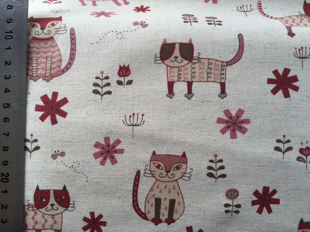 Tissu yuwa chat bordeaux 3 copie
