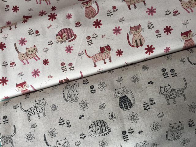 Tissu yuwa chat bordeaux et noir copie