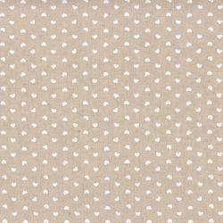 Tissus patchwork stof lin shabby chic coeurs blanc st18 133
