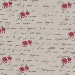 Tissus patchwork stof lin shabby chic fleurs st18 121