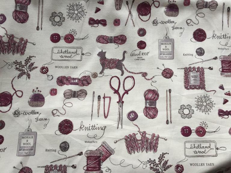 Tissu Yuwa Coton Tricot Bordeaux