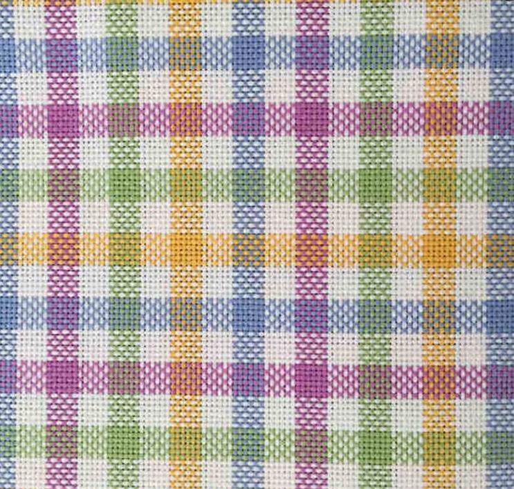 Toile graziano pour broderie suisse multicolore