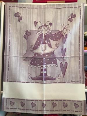 Torchon à broder Brode41 Violet 60x80cm