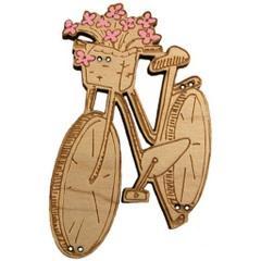 Vélo au panier de fleurs BLF109