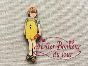 Garçon culotte courte jaune VI-04 - Atelier Bonheur du Jour
