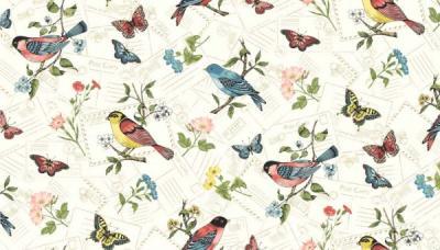 Tissus Patchwork Makower Vintage Journal 1575