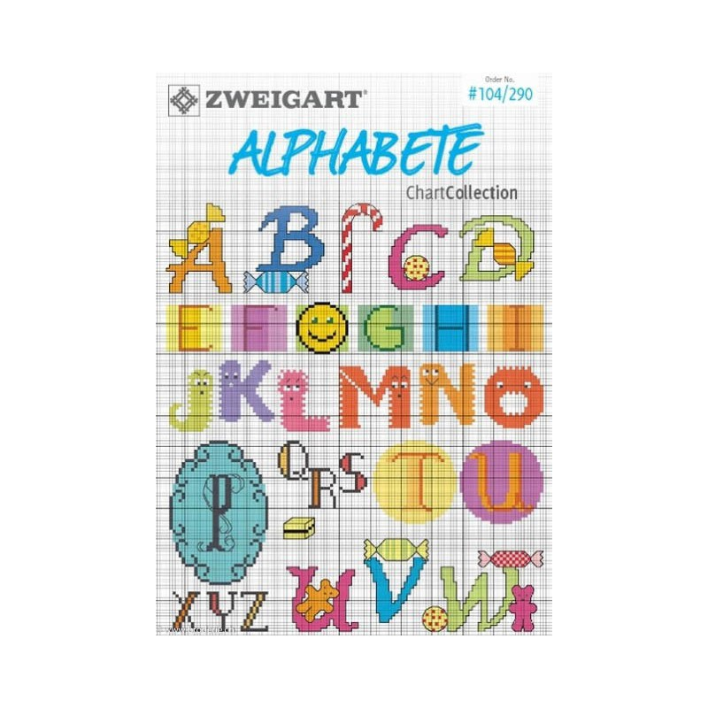 104 290 zweigart catalogue de modeles alphabets