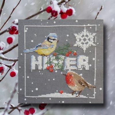Les oiseaux en hiver 1063  Au Fil de Martine
