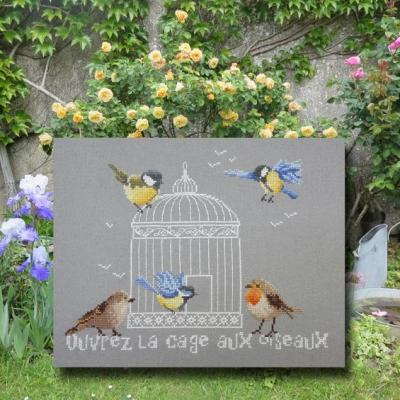 Ouvrez la cage aux oiseaux 1074 Au Fil de Martine