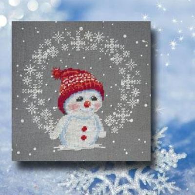 Les Flocons de Snowman 1084 Au Fil de Martine