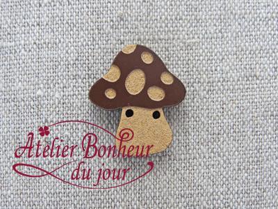 Champignon large chocolat AU-01-CH - Atelier Bonheur du jour